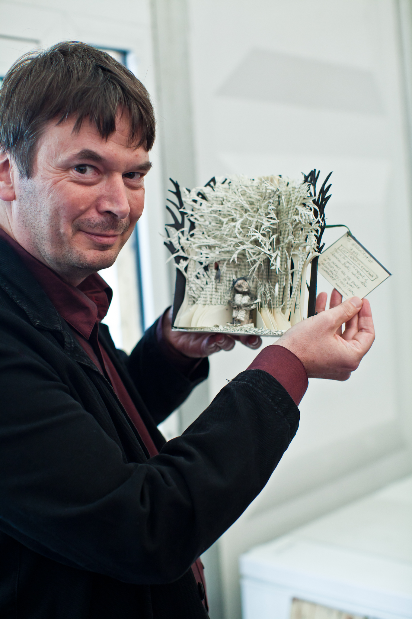 Book Sculpture with Ian Rankin (c) City of Literature Trust - Photographer Chris Scott