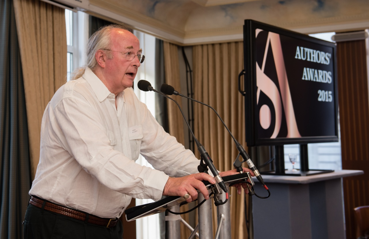Philip Pullman at the Society of Authors Annual Awards at Army and Navy Club Pall Mall St James, London SW1. Photographer Adrian Pope